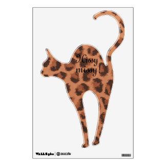 Hissy Missy! Leopard Cat Decal Wall Sticker