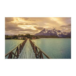 Histeria Pehoe. Cordillera del Paine Impresión En Tela