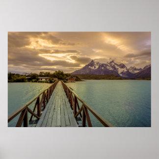 Histeria Pehoe. Cordillera del Paine Póster