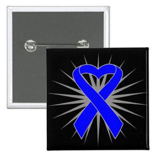 Histiocytosis Awareness Heart Ribbon Pin