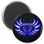 Histiocytosis Awareness Heart Wings Refrigerator Magnets