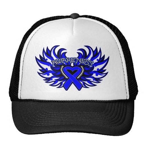 Histiocytosis Awareness Heart Wings Mesh Hat