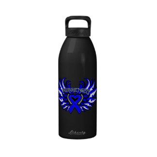 Histiocytosis Awareness Heart Wings Water Bottles
