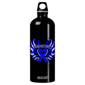 Histiocytosis Awareness Heart Wings Water Bottle