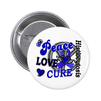 Histiocytosis de la curación 2 del amor de la paz pin redondo de 2 pulgadas