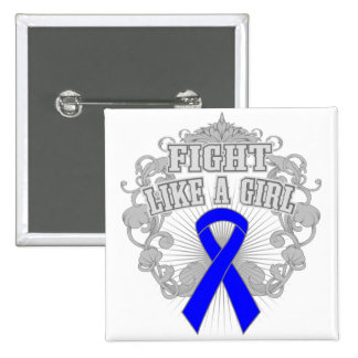 Histiocytosis Fight Like A Girl Fleurish Pinback Buttons