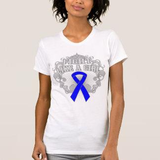 Histiocytosis Fight Like A Girl Fleurish Tee Shirts