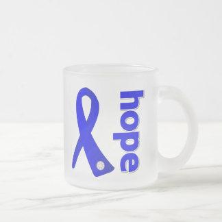 Histiocytosis Hope Ribbon 10 Oz Frosted Glass Coffee Mug