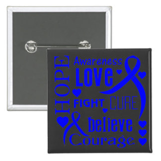 Histiocytosis Hope Words Collage Pinback Buttons