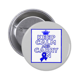 Histiocytosis Keep Calm and Carry ON Pin