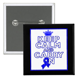 Histiocytosis Keep Calm and Carry ON Pinback Button