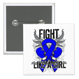 Histiocytosis Ultra Fight Like A Girl Pinback Button