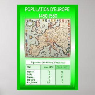 Histoire d Europe 1450-1550 de la población Posters