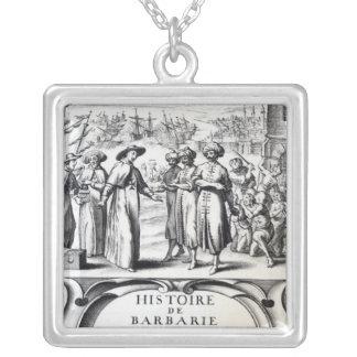 Histoire de Barbarie y de ses Corsaires Colgante Cuadrado