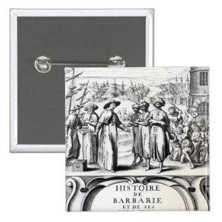 Histoire de Barbarie y de ses Corsaires Pin Cuadrada 5 Cm