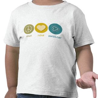Histología del amor de la paz camiseta
