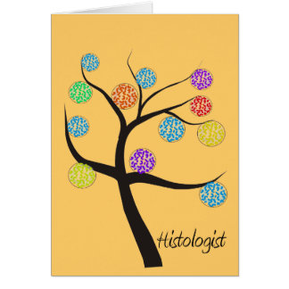 Histologist Tree Design Microscopic Cell Leaves Card