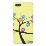 Histologist Tree Design Microscopic Cell Leaves Cover For iPhone 5