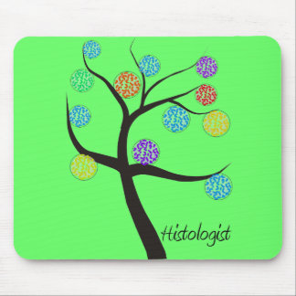 Histologist Tree Design Microscopic Cell Leaves Mouse Pad
