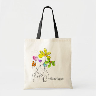 Histologist Watercolor Flowers Tote Bag II