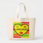 Histology Citrus Heart Tote Bag