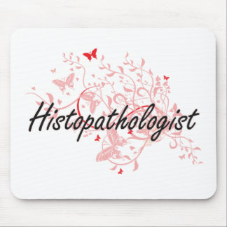 Histopathologist Artistic Job Design with Butterfl Mouse Pad