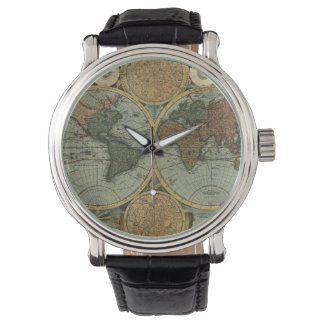 Historia-amante del mapa de Viejo Mundo del Relojes De Mano