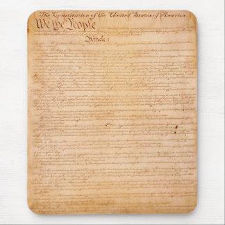 Historia americana Mousepad de la CONSTITUCIÓN de