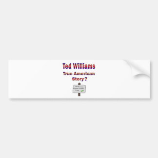 Historia americana verdadera de Ted Williams Pegatina Para Auto
