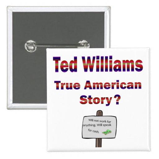 Historia americana verdadera de Ted Williams Pin
