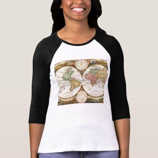 Historia antigua de los hemisferios antiguos del camisetas
