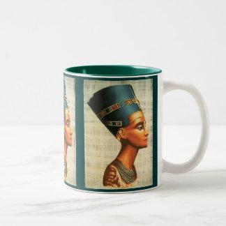 Historia antigua Drinkware de la reina Nefertiti Taza De Café De Dos Colores