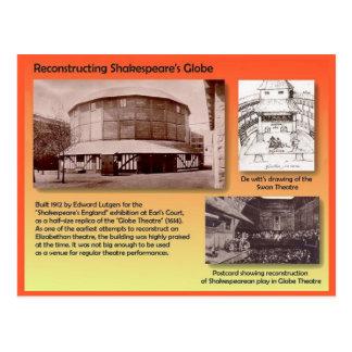 Historia, artes interpretativas, nuevo teatro del  tarjeta postal