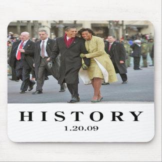 HISTORIA: Barack e inauguración de Michelle Obama Alfombrillas De Raton