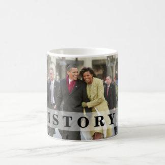 HISTORIA: Barack y Michelle en la inauguración Taza De Café