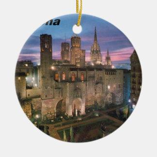 historia --barcelona--barrio--gotico  Angie Ceramic Ornament