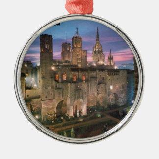 historia --barcelona--barrio--gotico  Angie Metal Ornament