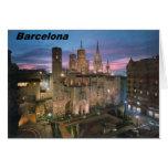 historia --Barcelona--barrio hispano--gotico Angie Tarjeta De Felicitación