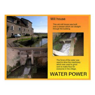 Historia, ciencia, energía, poder de agua tarjeta postal