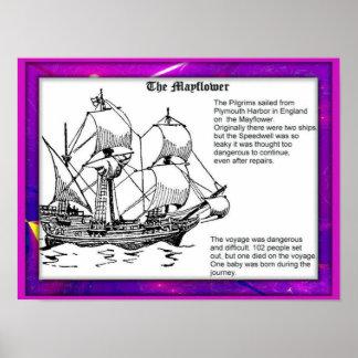 Historia colonos del puritano viaje en Mayflower Impresiones