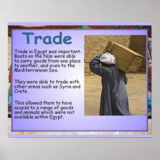 Historia, comercio de Egipto antiguo en el Nilo Posters