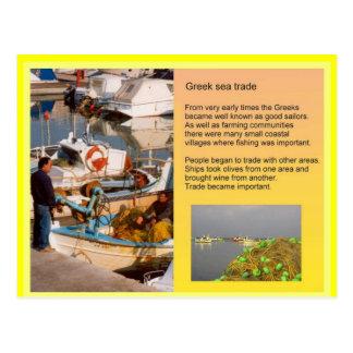 Historia, comercio de Grecia antigua, mar Tarjeta Postal