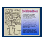 Historia, condiciones sociales en el tiempo de Sha Impresiones