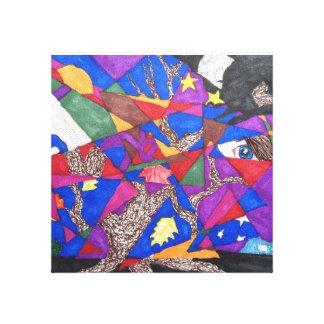 Historia de amor abstracta impresiones de lienzo