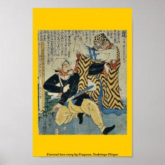 Historia de amor absurda por Utagawa Yoshitoyo Uk Poster