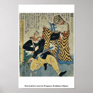 Historia de amor absurda por Utagawa Yoshitoyo Uk Posters