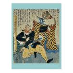 Historia de amor absurda por Utagawa, Yoshitoyo Uk Postales