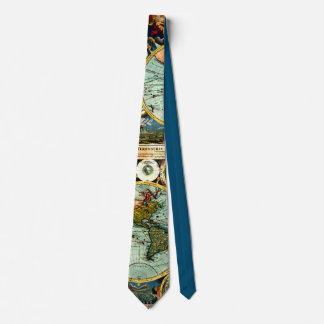 Historia de arte antigua del vintage del mapa del corbatas personalizadas