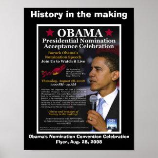 HISTORIA de Barack Obama EN la FABRICACIÓN Póster
