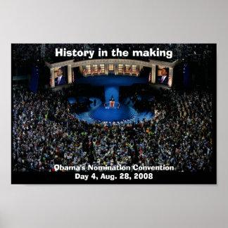 HISTORIA de Barack Obama EN la FABRICACIÓN Posters